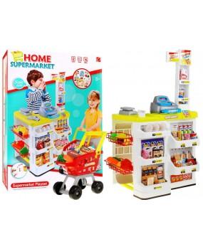Supermarket s nákupným košíkom
